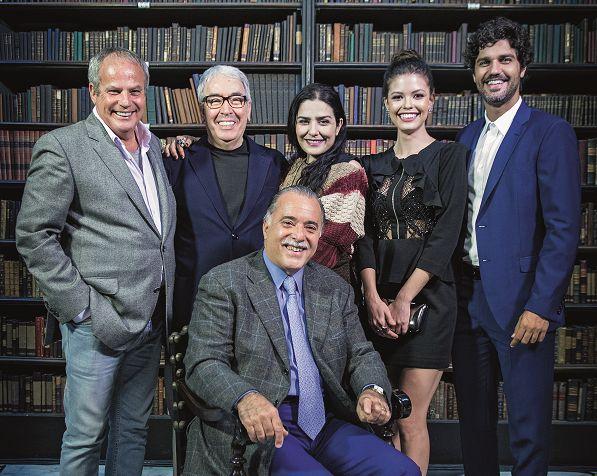 Jayme Monjardim, Alcides Nogueira, Letícia Sabatella, Vitória Strada, Bruno Cabrerizo e Tony Ramos | Crédito: Maurício Fidalgo/TV Globo
