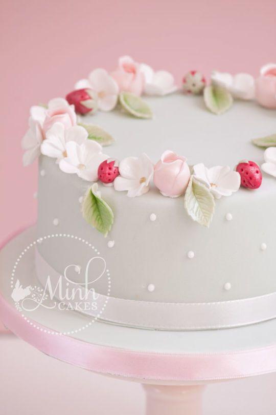 Romantic spring cake