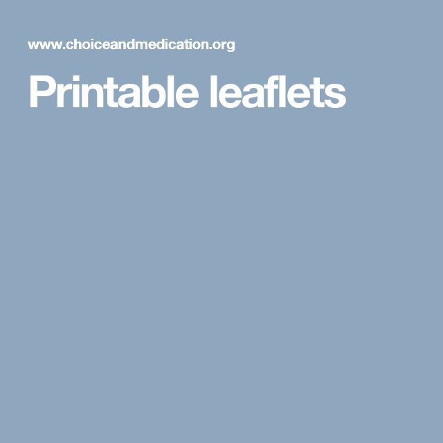 printable leaflets