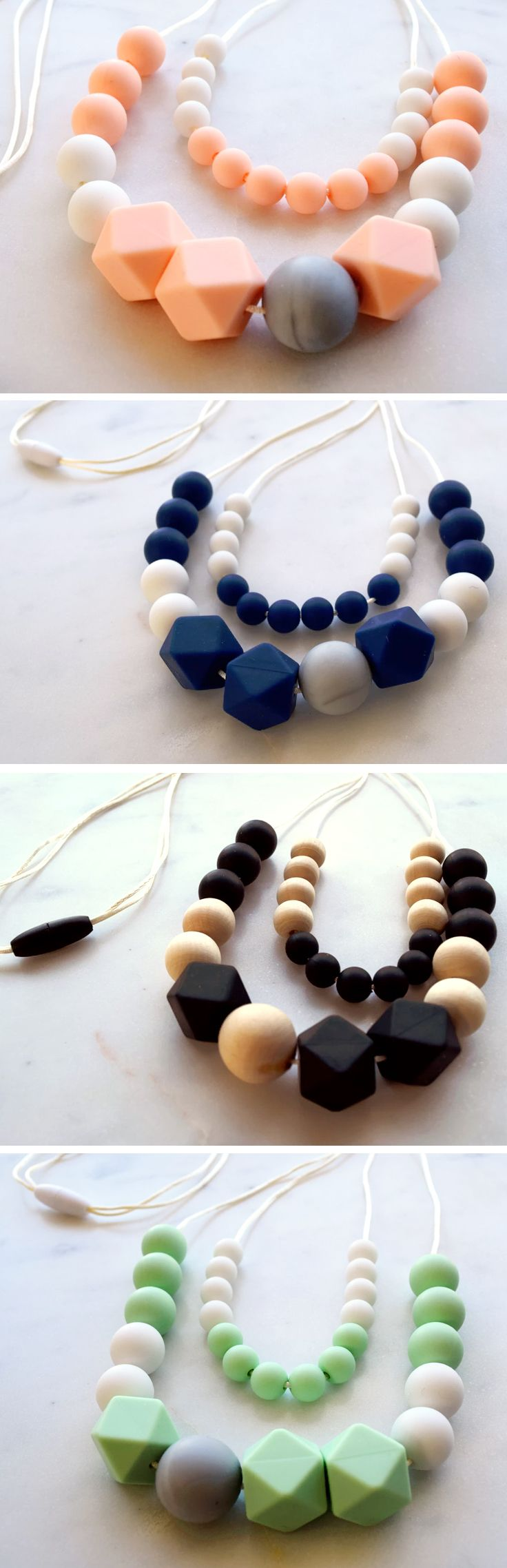 Best 25 homemade necklaces ideas on pinterest diy necklace womens teething necklaces stylish teething accessories handmade from non toxic silicone and wooden beads by zie and me these are the perfect necklaces fandeluxe Images