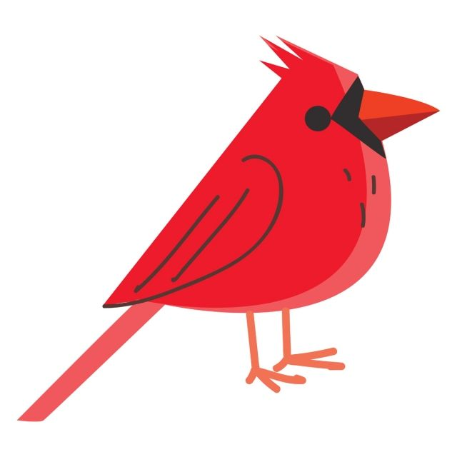 A Red Bird Vector Or Color Illustration Nature Red Bird Png And Vector With Transparent Background For Free Download Illustration Red Birds Colorful Backgrounds