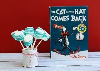 Dr. Seuss snack ideas: Dr Seuss Snacks, Food Ideas, Birthday Parties, Seuss Birthday, 1St Birthday, Parties Ideas, Dr. Seuss, Marshmallows Pop, Baby Shower