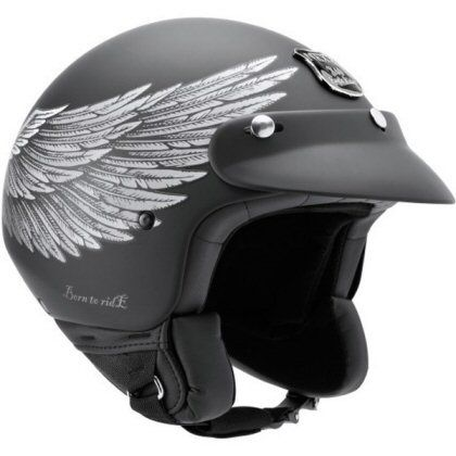 Motorcycle Helmets  Nexx x60 Eagle Rider open face road helmet. Used with goggles  for casual riding from pitstop to cafe.  http://www.flamesonmytank.co.za/helmets.htm#  www.allsporthelmets.com  - sport helmets for men women and children
