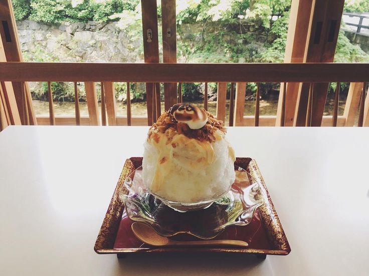 : レモンパイ 5月限定の、どうしても食べたかったかき氷 ◎ . . #たすき #京都カフェ #かき氷