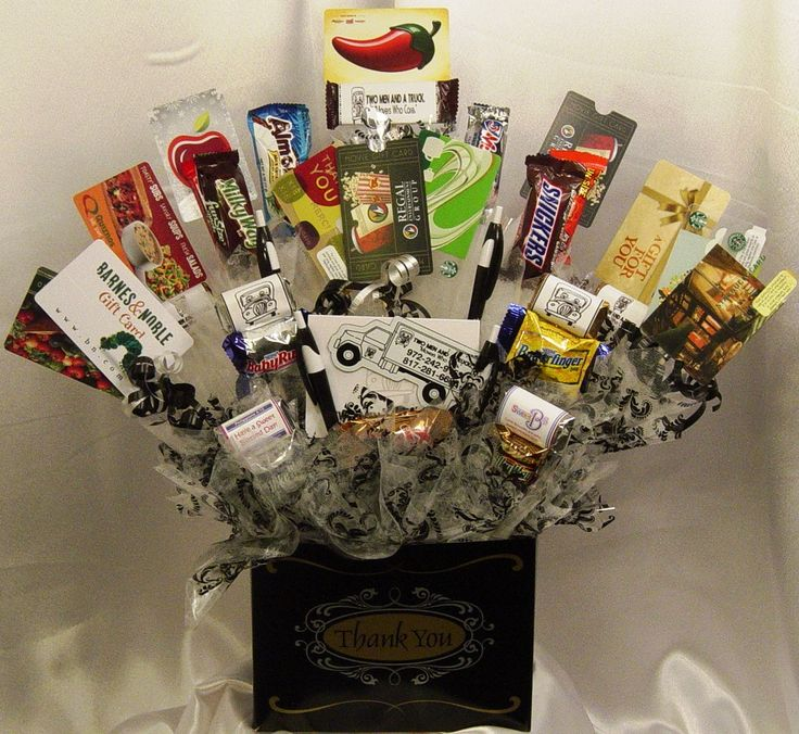 Gift Card Gift Basket. Put a variety of $5, $10 and $15 gift cards from several different places the recipient likes.