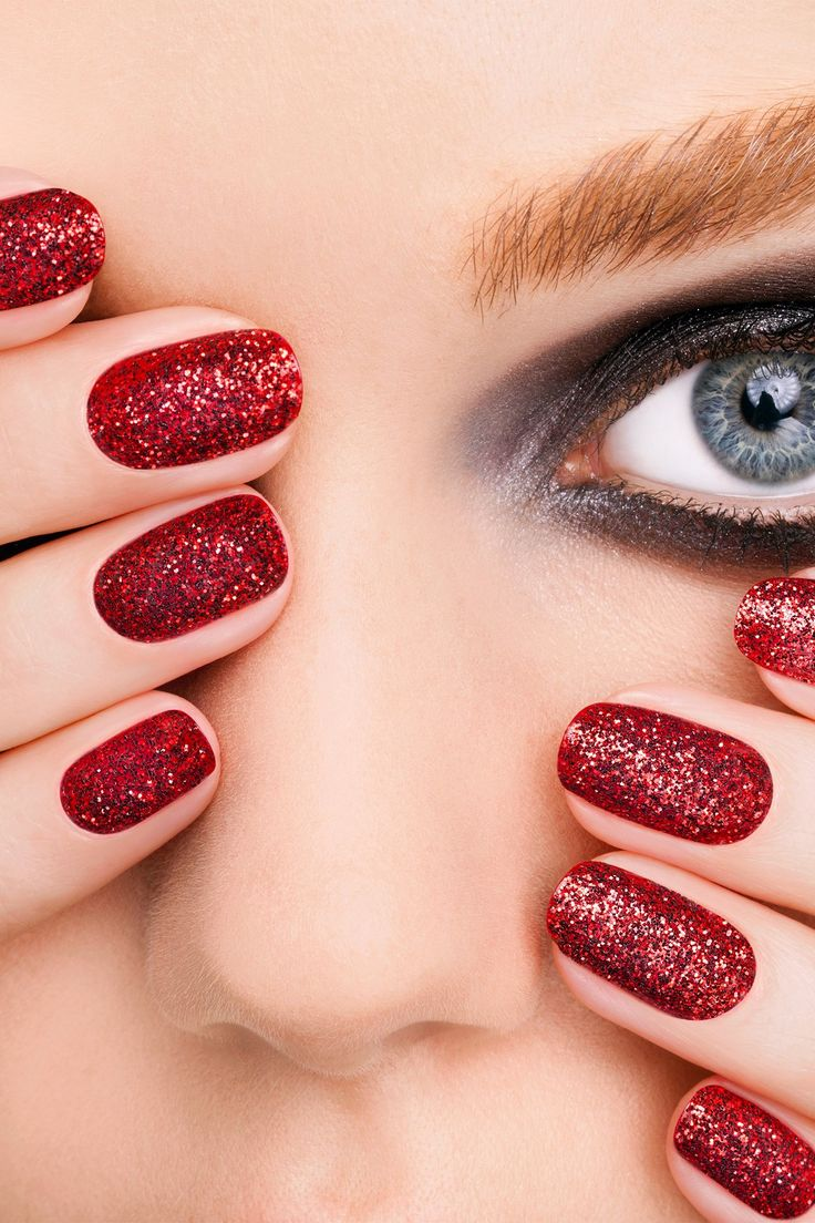 best red glitter nail ideas images on pinterest nail scissors
