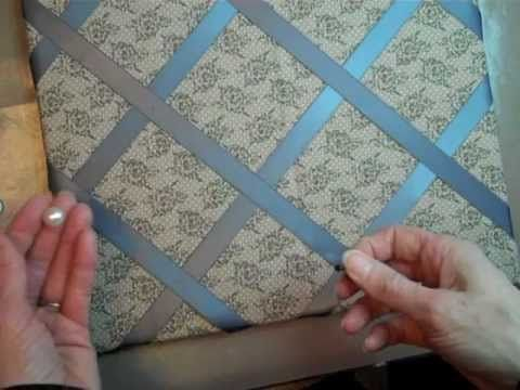 Fabric & Ribbon Covered Bulletin Board - YouTube