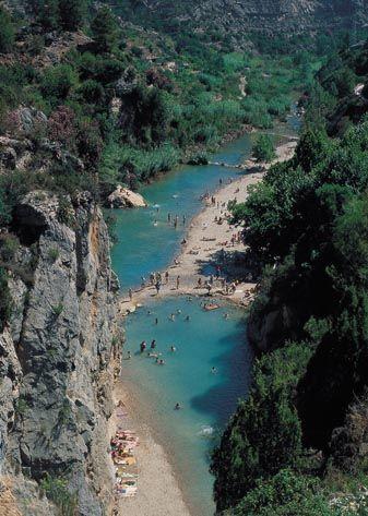 Paisaje de estrecho del río Mijares, Montanejos, Castellón