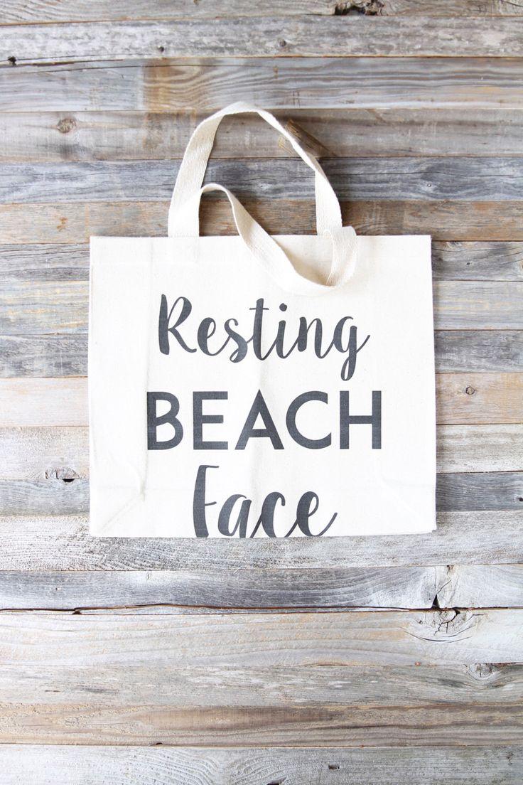 BEACH BAG - BEACH - Beach Tote - Resting Beach Face - Beach Bag Tote - Beach Pun Bag - Beach Quote - Gift For Beach Lover - Beach Lover Gift by PowderAndSea on Etsy https://www.etsy.com/listing/434489158/beach-bag-beach-beach-tote-resting-beach