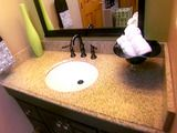 DIY - Replacing your own vanity countertop. I think I might be able to do this! :)