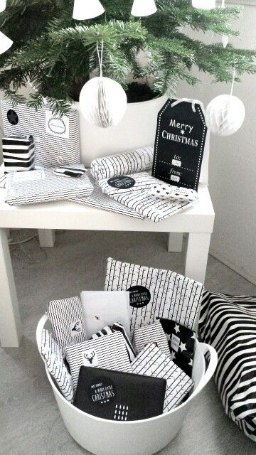 black & white gift wrapping