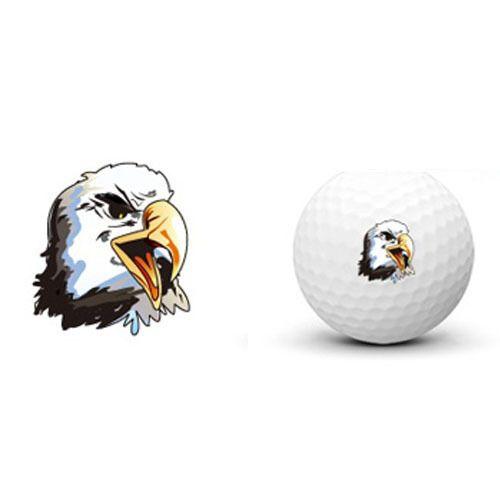 Golf Ball Transcription Sticker Marker Eagle Design Sports Funny Tattoo  #Unbranded