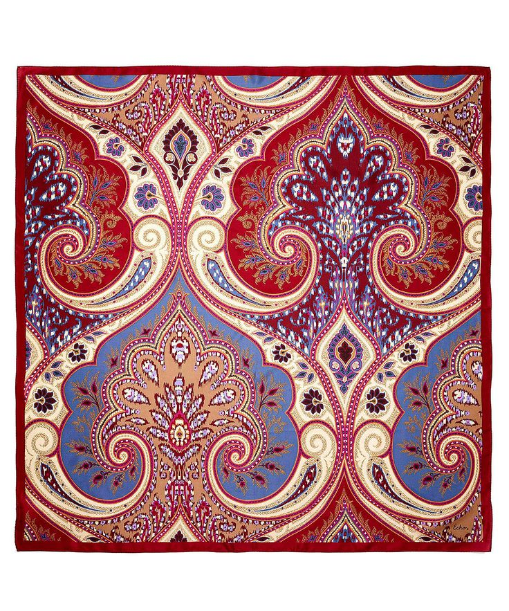 Bring an air of romance to your cold-weather wardrobe with our Romantic Paisley Square Scarf. The paisley pattern is timeless and beautiful, while the silk crepe fabrication provides unsurpassed softness and comfort.