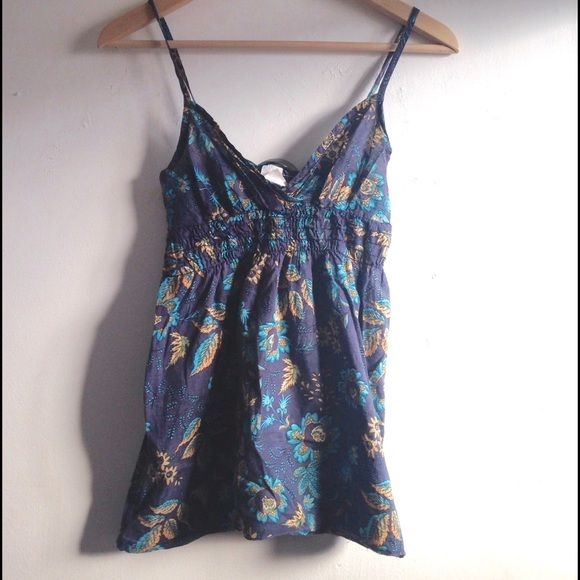 Floral Strappy Top  Adorable boho floral strappy top. One of my past favorites...just never fit right for my chest.  (not vintage) Vintage Tops