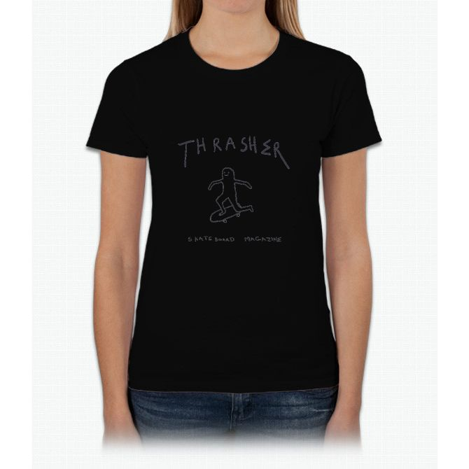 THRASHER skateboard mag white Womens T-Shirt