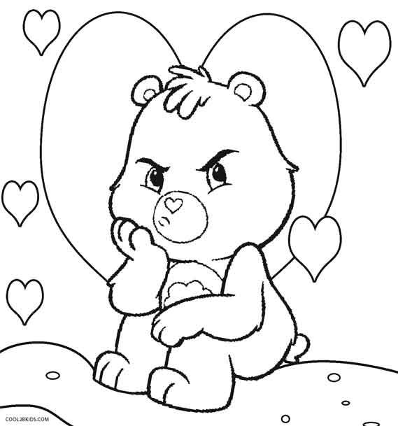 342 best care bears images on pinterest for Care bears coloring pages printable