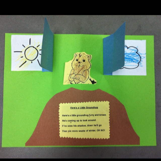 1000 images about groundhog day on pinterest for Groundhog day crafts for preschoolers