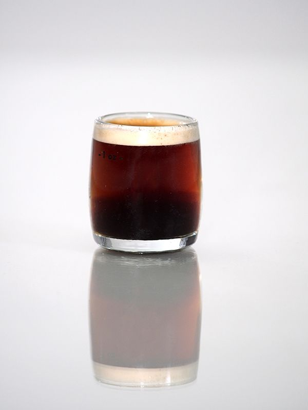 A shot of espresso from the Y&Y Café in Y&Y Photography Studios on the main street of Legal, AB.