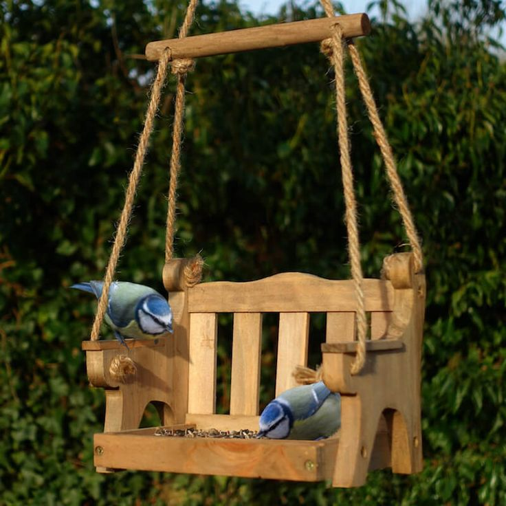hanging platform bird feeder entices birds to swing and snack even in small
