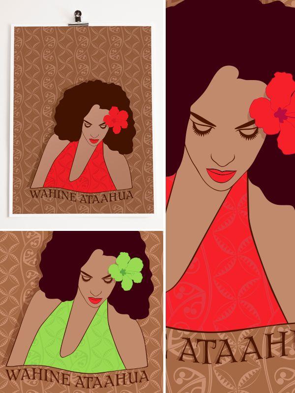 2013 Artwork Series : Wahine Ataahua - (Beautiful Woman)