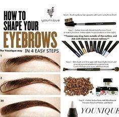 Having really good eyebrows is in right now ladies and with this YOUNIQUE eyebrow pencil and gel you can have the perfect eyebrows!!! All your friends will be jealous but as a good friend you should spread the word so you and all your divas can have the BEST eyebrows around!!! Shop here http://realyoucosmetics.com