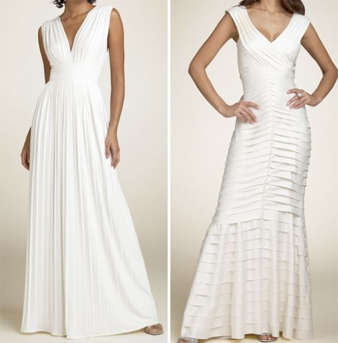 I love that dress on the left.  I'd actually wear that as my wedding dress; summer wedding.