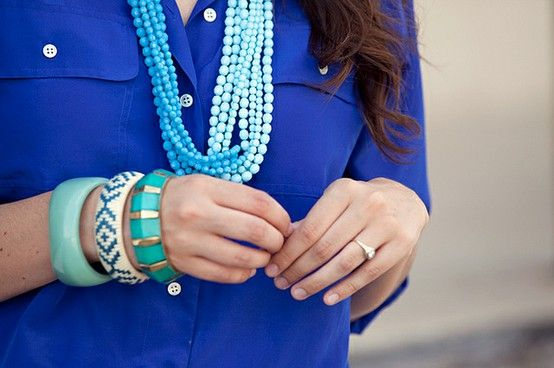 BLUE!: Fashion, Style, Color, Jewelry, Royal Blue, Accessories, Blues