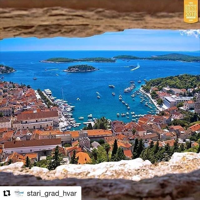 #Repost @stari_grad_hvar (@get_repost)  [DAY TRIPS] Hvar Town  While staying with us in Stari Grad set off on a day trip to our beautiful neighbour Hvar Town!  . . . #beautifulview #islandparadise #panorama #vidikovac #hvar #dalmatia #europeanbestdestinations #europeanbestdestinations2018 #ebd #ebd2018