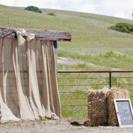 Burlap Arch for a Rustic Wedding Photo Booth