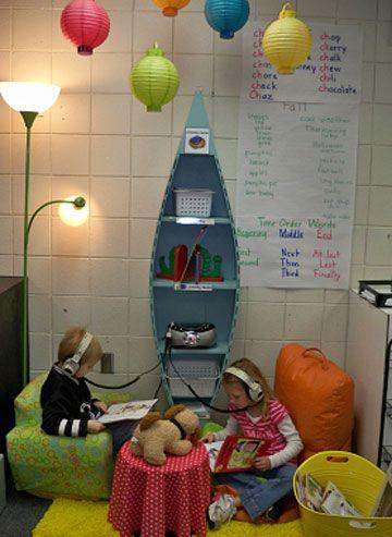 cool: Center Ideas, Classroom Design, Learning Centers, Book, Space, Listening Center, Classroom Ideas, Classroom Organization, High Schools