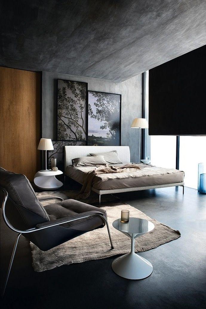 Mur béton, gris anthracite, design contemporain