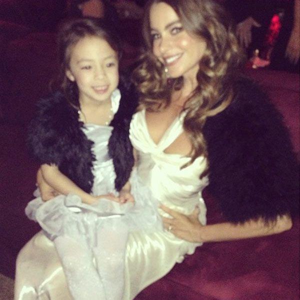 Sofia Vergara Matches 'Modern Family' Co-Star, 5, At SAGAwards