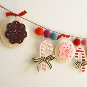 diy-holiday-ornament-17  espritdici.com #feutrine #deco #noel #diy #couleur #laine #feutre #christmas