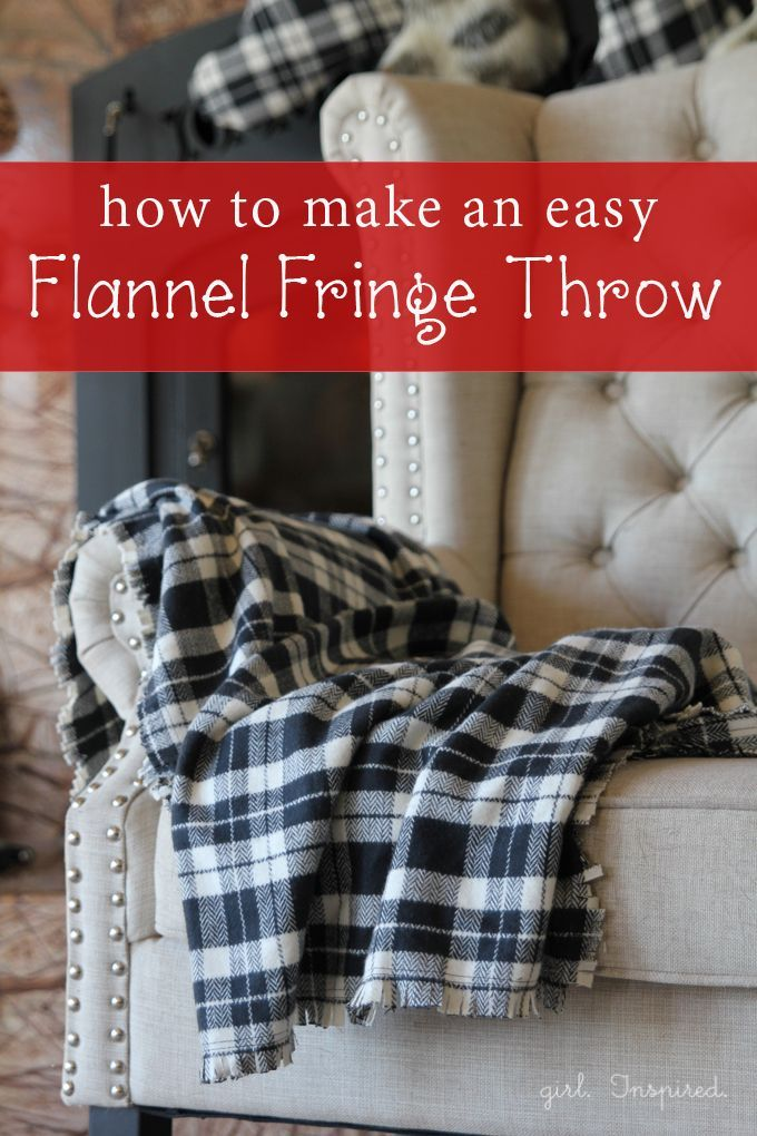Easy Flannel Fringe Blanket Flannels Fringes And Simple