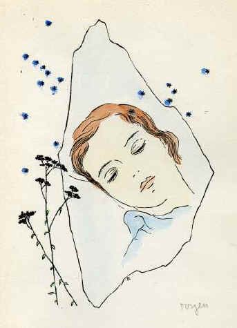 A Girl sleeping under the Stars  - Toyen, 1944.