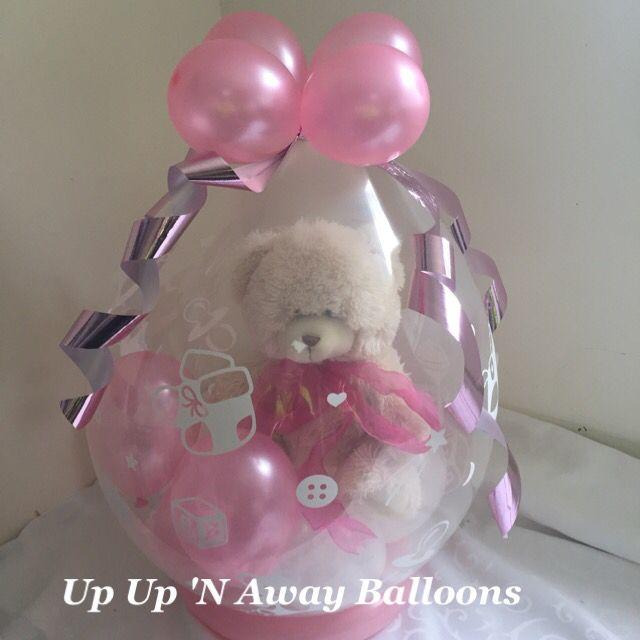 Cute Baby print stuffed balloon #babyshower #newborn #upupnawayballoons
