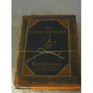 Randy Pausch's The Last Lecture, an inspirational book.  If you haven't seen the video of the actual lecture, I highly recommend watching it as well.