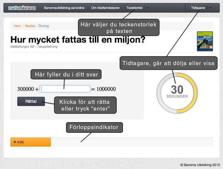"""Mattemästaren - Fria digitala """"övningsböcker"""" till Sanomas matematikläromedel."""