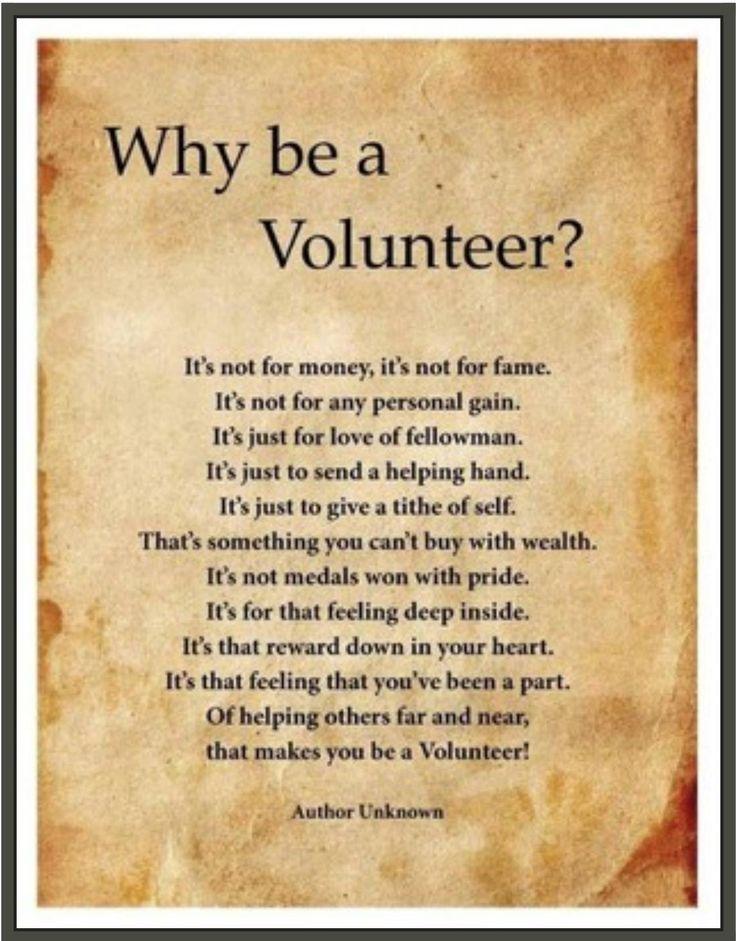 Volunteering is a blessing | Volunteering! | Pinterest ...