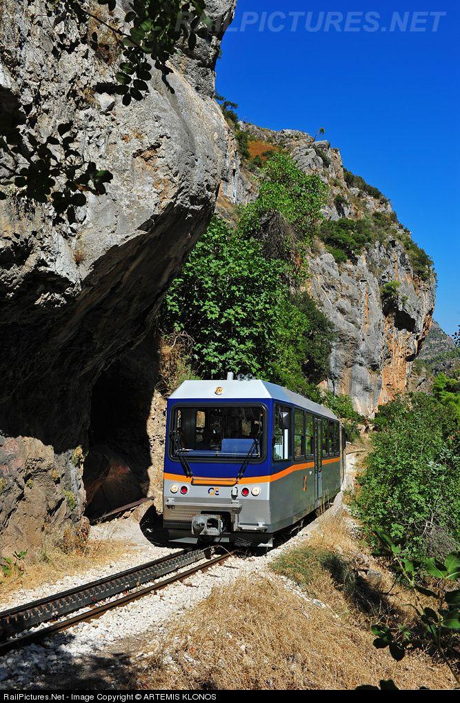 RailPictures.Net Photo: 3510 OSE Hellenic Railways STADLER, DBmh 2Z+4A/12 at Diakofto-Kalavrita, Greece by ARTEMIS KLONOS