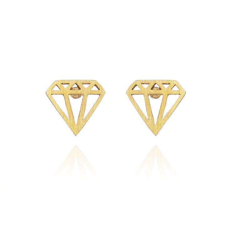 Diamond studs - Gold