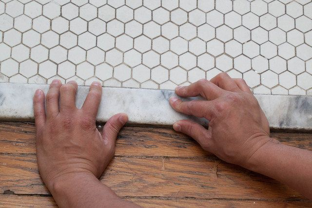 How to Install a Marble Threshold (with Pictures)   eHow