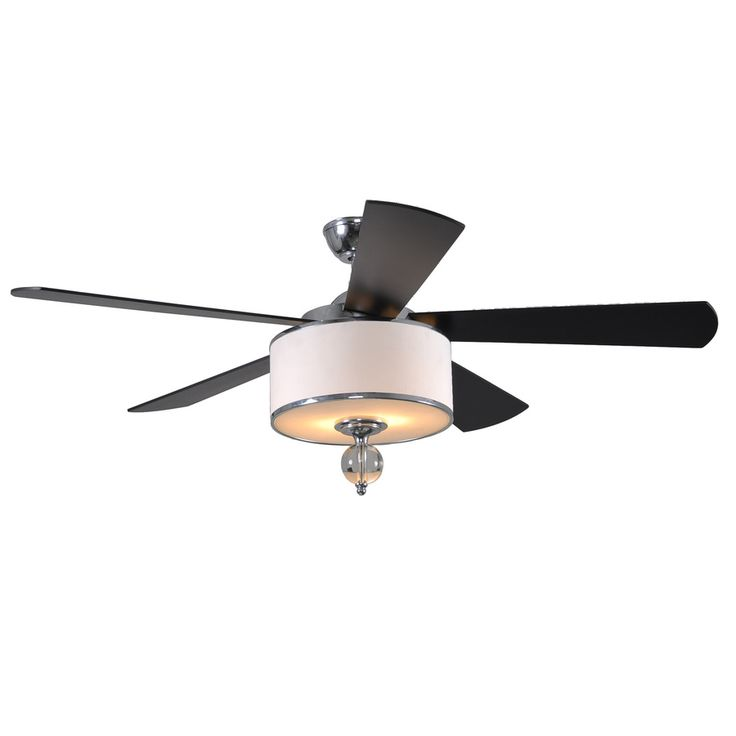 Shop allen roth 52 in victoria harbor polished chrome Master bedroom ceiling fans with lights
