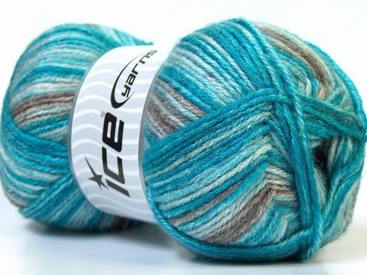 Alpaca Color Turquoise brun Nuances de bleus