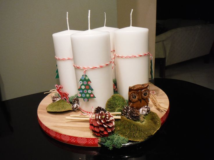 advent, candles, scrap technic