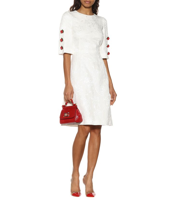 Duo Tl Dolce Modz Images: Embroidered Cotton And Silk Dress