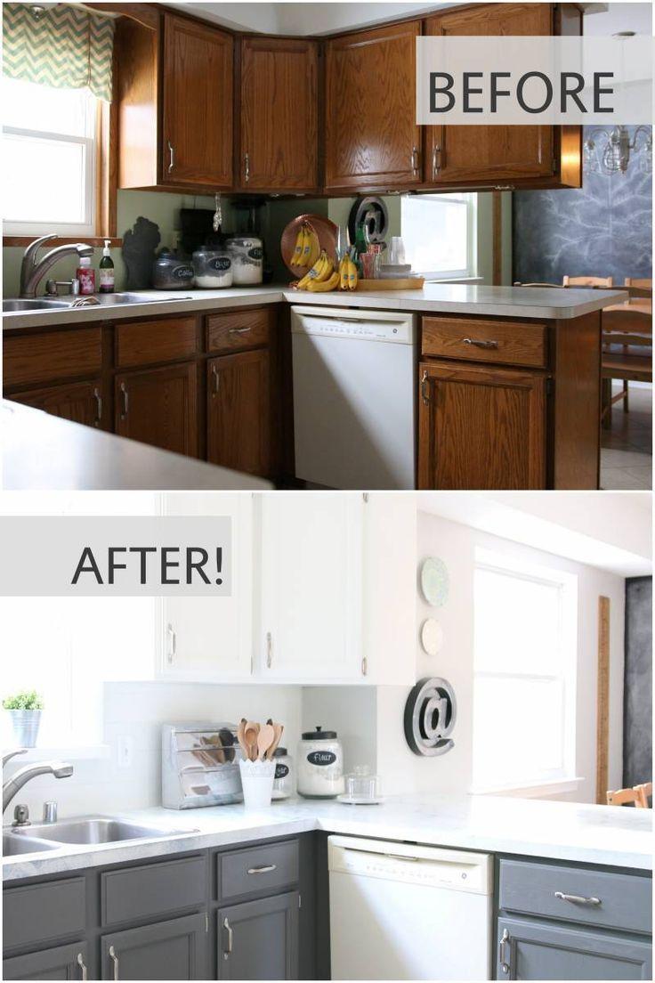 The 25 best vinyl tile backsplash ideas on pinterest vinyl fixer upper inspired kitchen updates using paint and this faux shiplap backsplash is made dailygadgetfo Choice Image