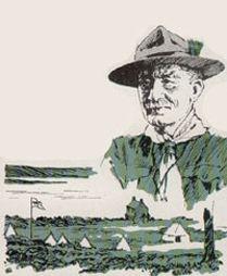 Robert Baden Powell, eller BP, blev født i 1857.  Efter en barndom, hvor han var meget ude i naturen, kom han i militæret.  Under en krig i Sydafrika havde han brugt drenge til at indsamle oplysninger. De var hans spejdere. Da han kom hjem til England udviklede han spejderideen og prøvede det hele på verdens første spejderlejr i 1907 på en lille ø, Brownsea Island.