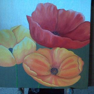 Flowers in oleo
