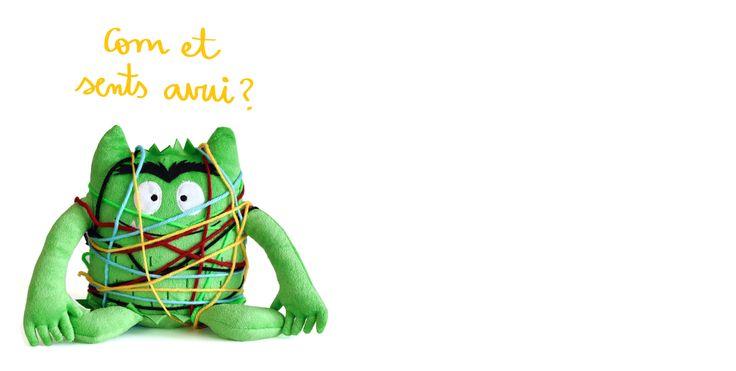 IDEA para hacer con tu peluche de El Monstruo de Colores. 1) Coge lanas de colores 2) Enrédalas al monstruo 3) Identifica la emoción y... ¡a jugar! www.elmonstruodecolores.com